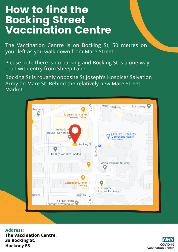 Vaccination Centre Flyer Bocking St 1 - Covid-19 News